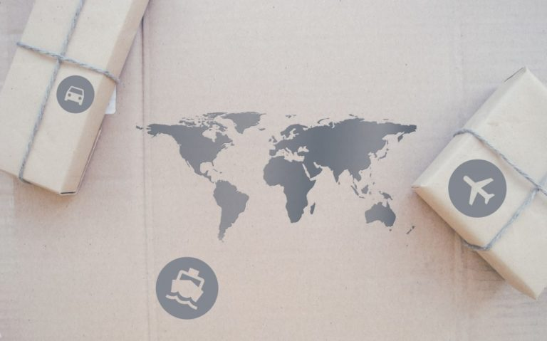 boxes on top of a paper map