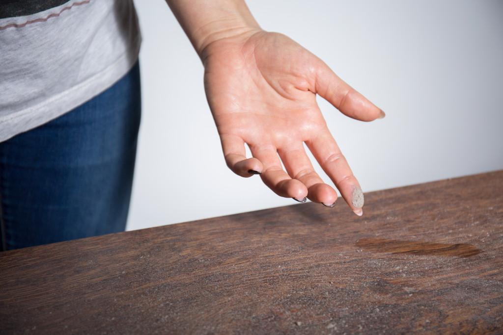 dusty table