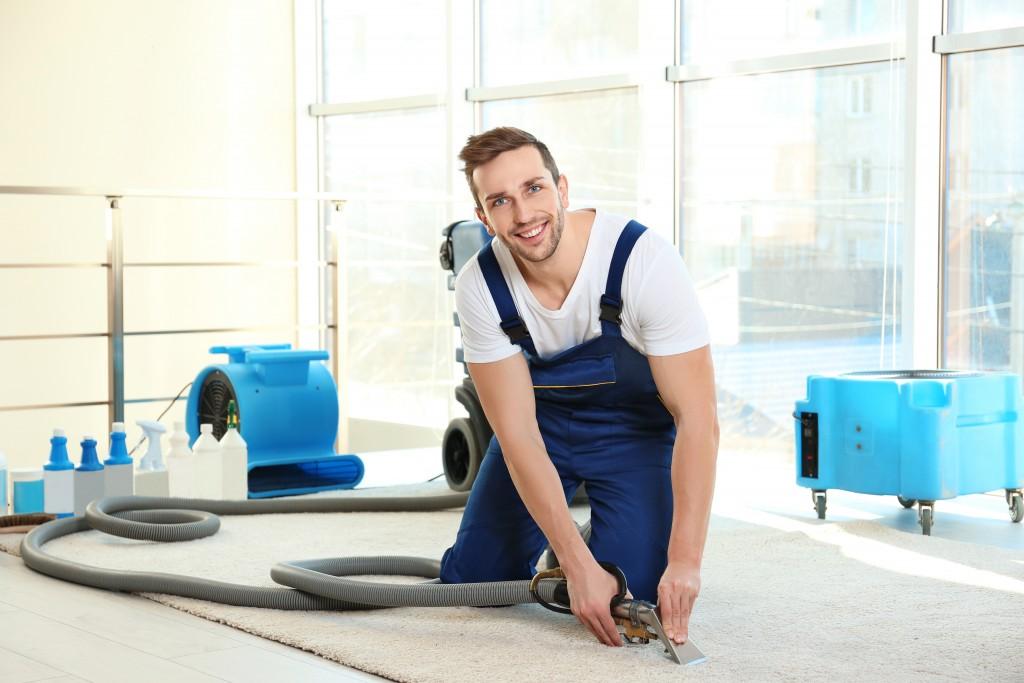 Vacuuming the dust