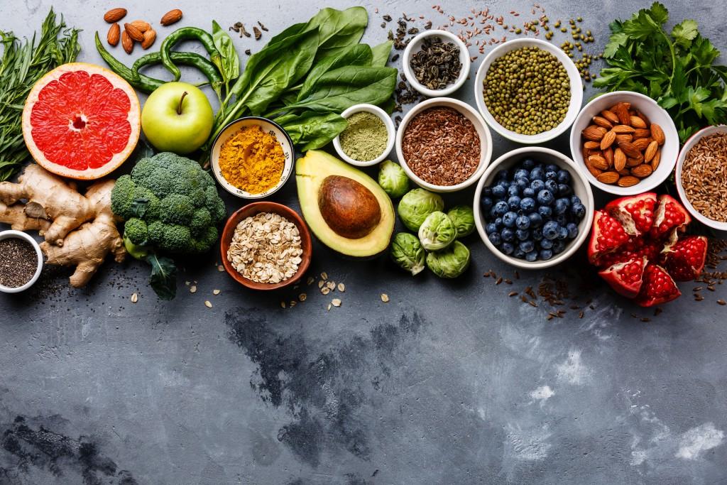 healthy foods concept