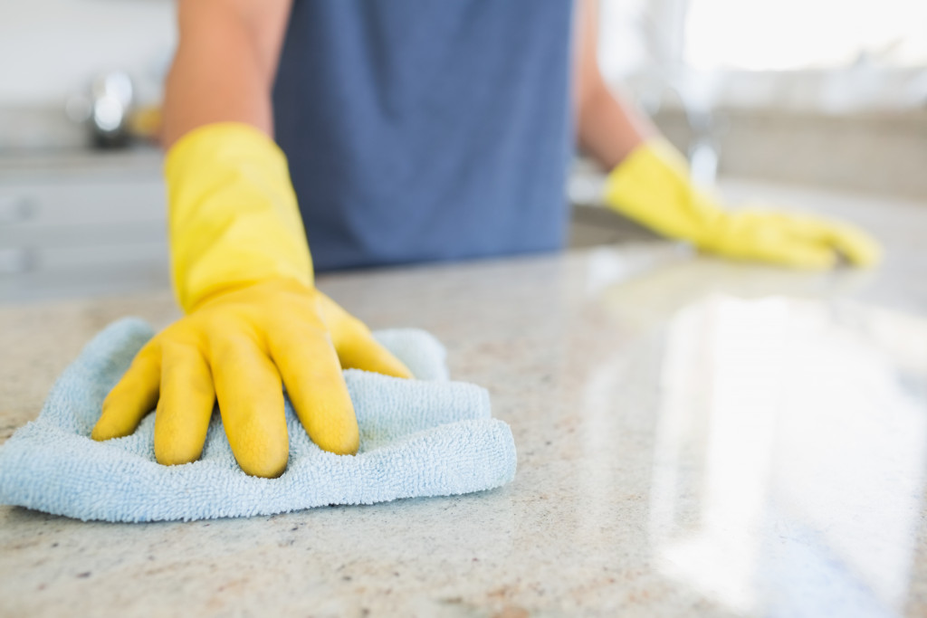 cleaning surface