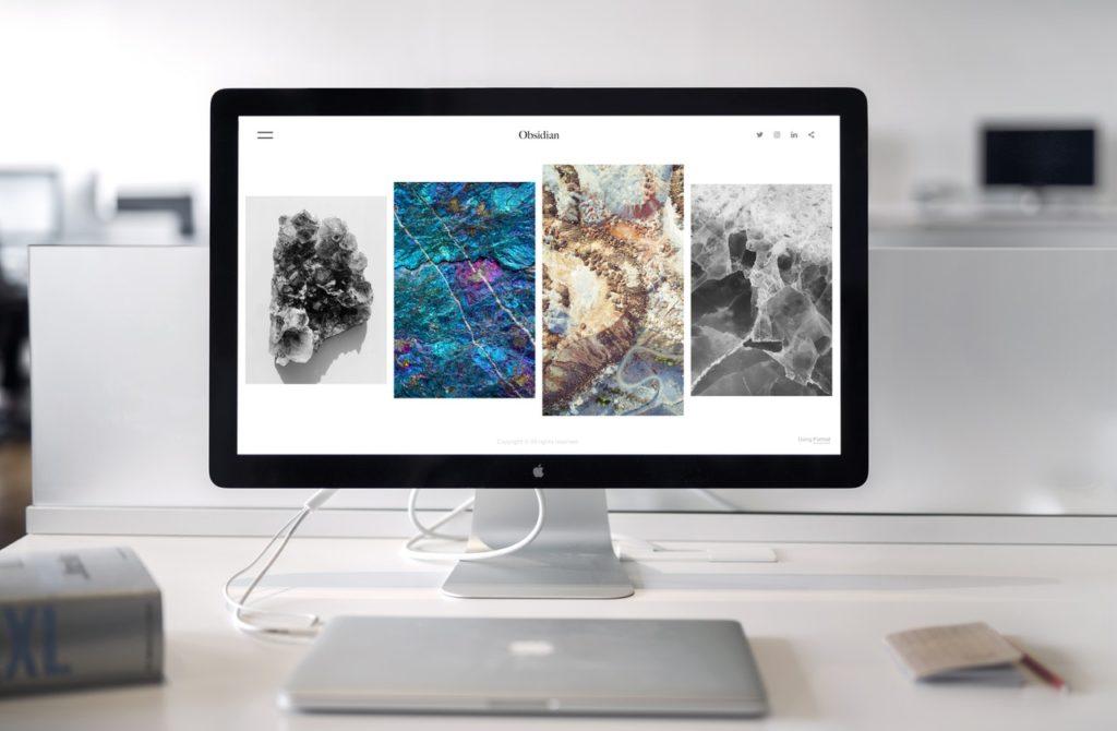 art works on a website