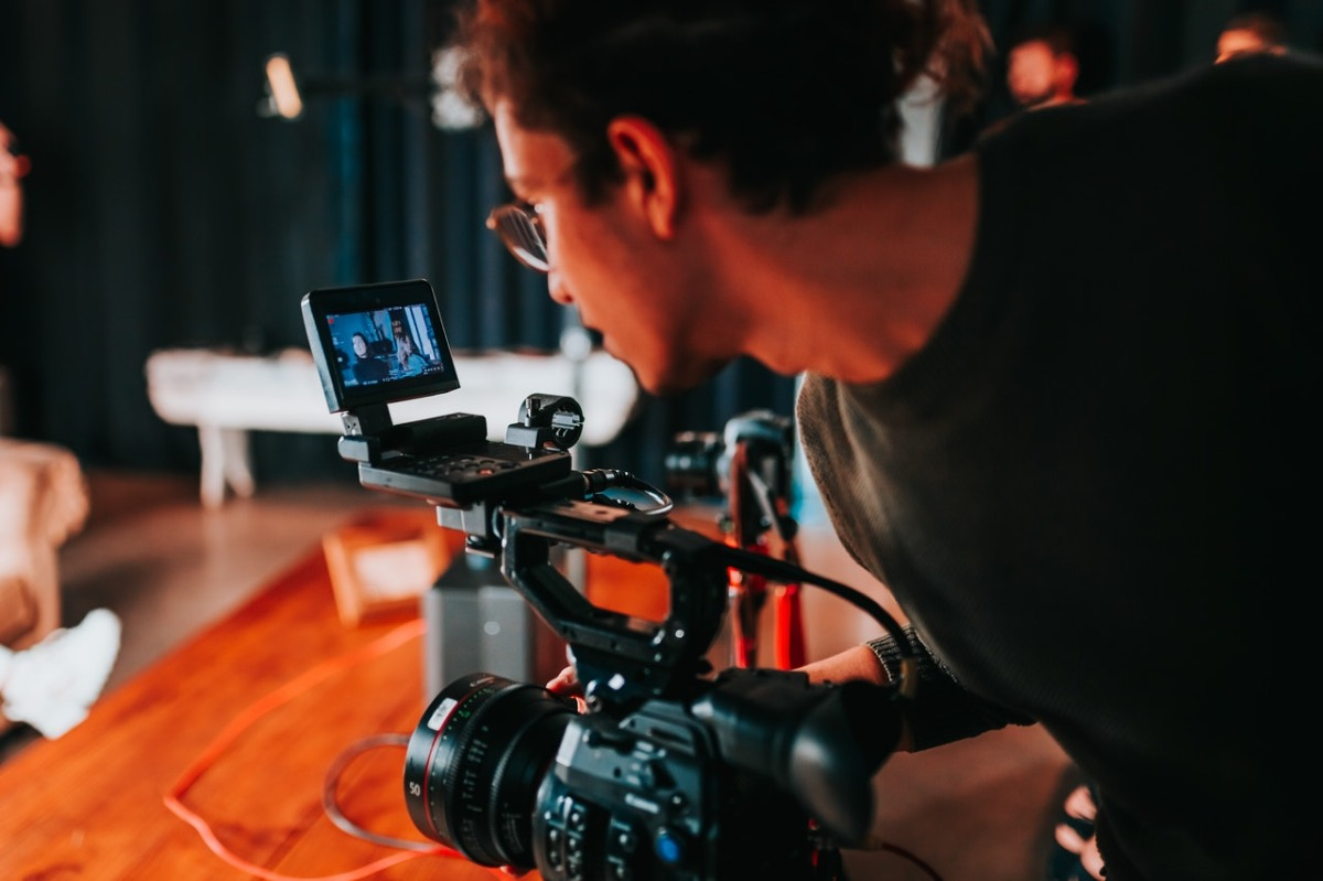 person filming