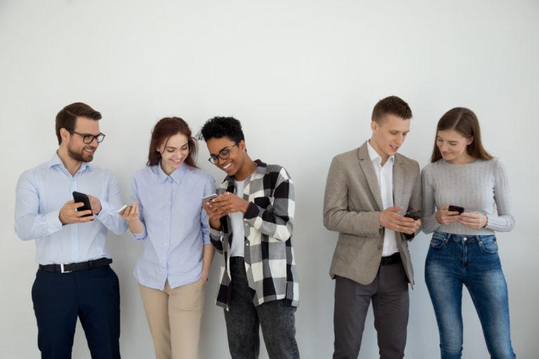 millennials using phones