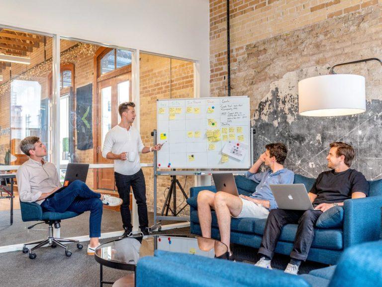 team strategising operations